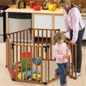 3 in 1 Wood Superyard, Baby Care Products and Baby Gear - High Chairs, Strollers, and Baby Monitors