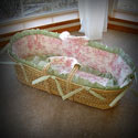 Central Park Play Moses Basket, Baby Baskets For Girls | Girls Moses Baskets | ABaby.com