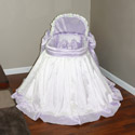 Lilian Lavender Bassinet, Baby Girl Bassinet Bedding | Baby Girl Bedding Sets | ABaby.com