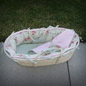 Margarita Moses Basket, Baby Baskets For Girls | Girls Moses Baskets | ABaby.com