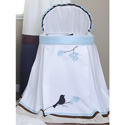 Bluebird Bassinet, Baby Bassinet Bedding sets, Bassinet Skirts, Bassinet Liners, and Hoods