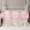 Celine Pink Crib Bedding, Baby Girl Crib Bedding | Girl Crib Bedding Sets | ABaby.com
