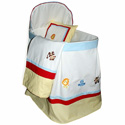 Jungle Friends Bassinet, Baby Bassinet Bedding sets, Bassinet Skirts, Bassinet Liners, and Hoods