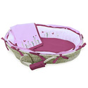 Playful Garden Moses Basket, Baby Baskets For Girls | Girls Moses Baskets | ABaby.com