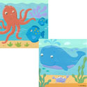 Ocean Artwork, Kids Nursery Canvas Wall Art - Ababy.Com