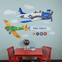 Airplanes Peel and Place Wall Decal, Kids Wall Decals | Baby Room Wall Decals | Ababy.com