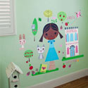 Paper Doll-Annika Wall Decal, Kids Wall Decals | Baby Room Wall Decals | Ababy.com