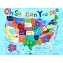 Oh Say Can You See Stretched Art, Kids Wall Art | Neutral Wall Decor | Kids Art Work | ABaby.com