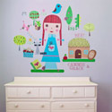 Paper Doll-Claire Wall Decal, Kids Wall Decals | Baby Room Wall Decals | Ababy.com