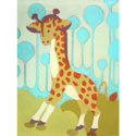 Gigi Giraffe Wall Art, African Safari Themed Nursery | African Safari Bedding | ABaby.com