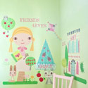 Paper Doll-Goldie Wall Decal, Kids Wall Decals | Baby Room Wall Decals | Ababy.com