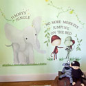 Elephant and Monkey Trio Wall Decals, African Safari Themed Nursery | African Safari Bedding | ABaby.com