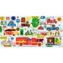 On The Go Canvas Wall Art, Train And Cars Themed Nursery | Train Bedding | ABaby.com