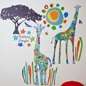 Randolph and Skipper Wall Decal, African Safari Themed Nursery | African Safari Bedding | ABaby.com