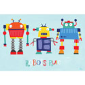 Robots Rule Canvas Art, Boys Wall Art | Artwork For Boys | ABaby.com
