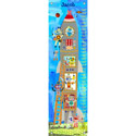 Rocket Robots Growth Chart, Personalized Baby Growth Chart for Girls & Boys