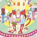 Teacup Ride Stretched Art, Circus Fun Themed Nursery | Circus Fun Bedding | ABaby.com