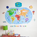 What a World Wall Decal, Kids Wall Decals | Baby Room Wall Decals | Ababy.com