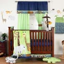 Jazzie Jungle Crib Bedding Set, Boys Crib Bedding Sets - Crib Sets for Boys with Sheets & Bumpers