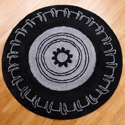 Teyo's Tires Round Rug, Kids Playroom Area Rugs | Bedroom Rugs | Carpet | aBaby.com