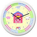Country Baby Wall Clock