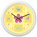 Flowerland Wall Clock, Personalized Nursery Decor | Baby Room Decor | ABaby.com