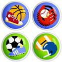 Game On Drawer Knobs, Sports Themed Nursery | Boys Sports Bedding | ABaby.com