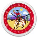 Ride 'em Wall Clock, Wild West, Western, Cowboy Themed Furniture, Decor For Childrens Rooms and Baby's Nursery.