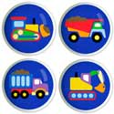 Under Construction Drawer Knobs, Train And Cars Themed Nursery | Train Bedding | ABaby.com