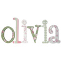 Olivia Toile  Letters, Customized Wall Letters | Childrens Wall Letters | ABaby.com