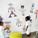 Build a Bot Wall Decal, Kids Wall Decals | Baby Room Wall Decals | Ababy.com
