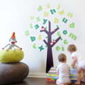 Tree of Knowledge Fabric Wall Decal, ABC Nursery Decor | ABC Alphabets Wall Decals | ABaby.com