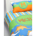 Personalized Dino Bedding Set, Twin Bed Bedding | Girls Twin Bedding | ABaby.com