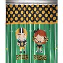 Personalized Sports Shower Curtain, Sports Themed Nursery | Boys Sports Bedding | ABaby.com