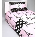 Personalized Paris Posh Toddler Bedding Set, Girl Toddler Bedding Sets | Toddler Girl Bedding | ABaby.com
