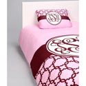 Classy Pink Personalized Bedding Set, Twin Bed Bedding | Girls Twin Bedding | ABaby.com
