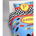 Personalized Race Car Bedding Set, Twin Bed Bedding | Girls Twin Bedding | ABaby.com