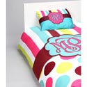 Stripes 'n Dots Personalized Bedding Set, Twin Bed Bedding | Girls Twin Bedding | ABaby.com