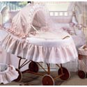 Petra Bassinet, Baby Bassinet Bedding sets, Bassinet Skirts, Bassinet Liners, and Hoods