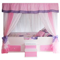 Butterfly Princess Canopy Bed, Childrens Beds | Girls Twin Bed | ABaby.com