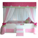 Flower Princess Canopy Bed, Childrens Beds | Girls Twin Bed | ABaby.com