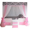 Princess Sophia Canopy Bed, Childrens Beds | Girls Twin Bed | ABaby.com