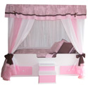 Toile Princess Canopy Bed, Childrens Beds | Girls Twin Bed | ABaby.com
