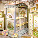 Storytime 4 Poster Crib, Bunnies Themed Nursery | Bunnies And Bears Bedding | ABaby.com