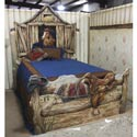 Lone Star Bed, Wild West, Western, Cowboy Themed Furniture, Decor For Childrens Rooms and Baby's Nursery.