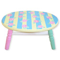 Pink Roses Stool, Personalized Kids Step Stools | Step Stools for Toddlers | ABaby.com
