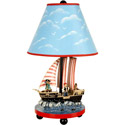 Pirate Table Lamp, Pirates Nursery Decor | Pirates Wall Decals | ABaby.com