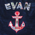 Personalized Anchor Ahoy Bath Towel, Personalized Baby Gifts | Gifts for Kids | ABaby.com