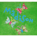 Personalized Butterfly Bath Towel