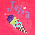 Personalized Ice Cream Flavors Bath Towel